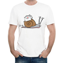 Newest 2017 Fashion Humor Snail Mail T Shirt Funny Men's Custom Animal Printed T-Shirt High Quality Hipster Male Tee Tops