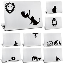 Glasses glow black cat Monkey wolf sticker for apple macbook air decal 11 13 inches for mac pro retina 13 15 Vinyl Skins cover