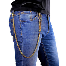 Collare Hip-hop Cowboy Heavy Pants Chain Wallet Chain Gold/Black Color Stainless steel Purse Chain Waist Jewelry BC104