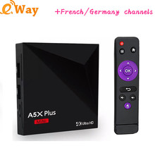 With 1 year arabic VOD french spanish africa Europe iptv account Android 7.1 set top box RK3228 Quad Core 1G 8G ip tv boxes
