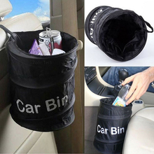 Fashion Wastebasket Trash Can Litter Container Car Auto Garbage Bin/Bag Waste Bins Household Cleaning Tools Accessories 977124(China)