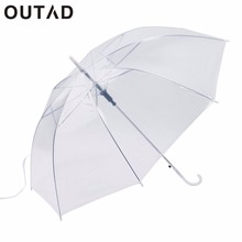 Windproof Fashion Transparent Clear Automatic Umbrella Parasol For Wedding Party Favor Stand Inside Out Rain Protecting(China)