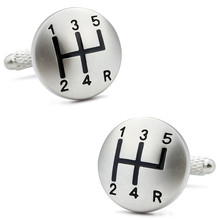 Hawson Hot Sale Speed Shifting Device Pattern Of Car Cufflinks Sale High Quality Cufflinks Engraved Personalized(China)