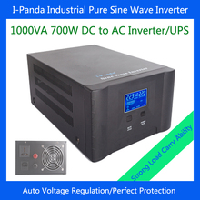 700W solar inverter with charger dc24v to ac pure sine wave power inverter with UPS AVR RS232 LCD