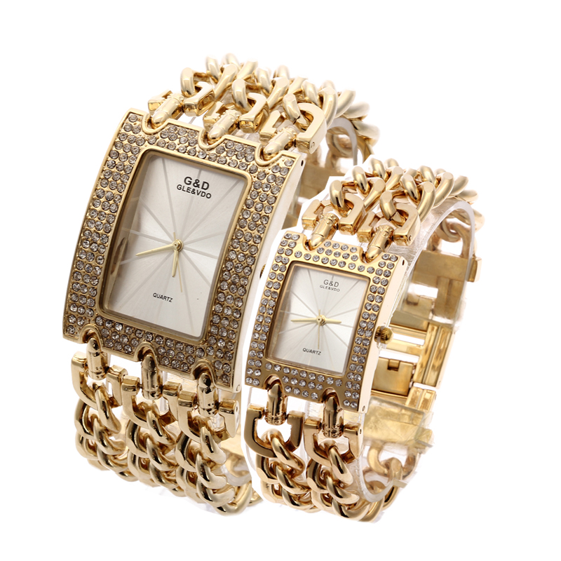 G&amp;D Women Wristwatches Quartz Watch Luxury Gold Watch Relogio Feminino Saat Dress Watch Relojes Mujer Ladies Gifts Casual Jelly<br>