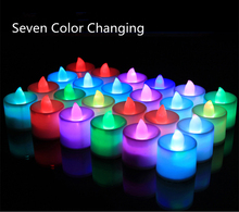 Colorful Battery Operated Flameless LED Candle Night Light Home Wedding Birthday Party Christmas Decoration Light Lamp Tea light