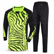 New Custom Football Goalkeeper Jersey Jerseys Sets Long Sleeve Kit Goalkeeper Uniforms Tops Pants Trousers Hot Wholesales 2017