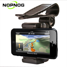 NOPNOG Car Phone Holder Mobile Phone Stand Bracket For GPS PDA MP4 Camera Digital DVR Sun Visor Mount Clip For iPhone Samsung(China)
