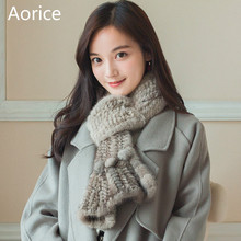 SCM061 Women's real mink fur scarf  band new warm mink fur knitted knit scarves wraps