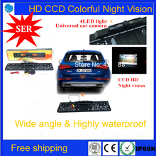 Free Ship HD CCD Wide 170 degree View Angle EU European Car License Plate Frame Parking Reversing Camera Night Vision Waterproof