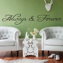 DCTOP Always And Forever Wall Sticker Art Vinyl Removable Home Decoration Wall Decals For Living Room Decor
