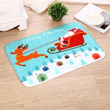 Christmas Welcome Doormats Indoor Home Carpets Decor Rag Rug Bathmat Room Floor Mat