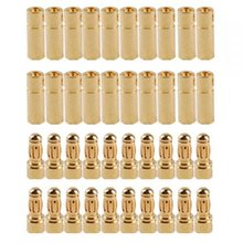 PROMOTION!20 pairs 3.5 mm Gold-plated Banana Plugs Engine Electronic Connectors(China)