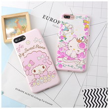 Hello Kitty Phone Cases Cover For coque iPhone7 7plus 6 6s 6plus Cute Melody TPU Silicone Soft candy  Phone bag Case Back Cover
