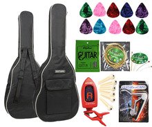 "600D Oxford Cloth Padded 40"" 41"" Acoustic Guitar Bag Soft Case , Guitar Strings Tuner Capo Celluloid Picks Bridge Pin ,5 Colors(China)"