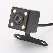 4 Led Lamps Reverse Camera Night Vision HD CDD Rear View Camara Lens 2.5mm Jack with 6 Meters Cable for Car Dvr Mirror Recorders(China)