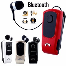 In-Ear Earphones Headset FineBlue F920 Wireless Bluetooth Retractable Earbuds With Collar Clip Calls Remind Vibration