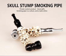 Fashion cool resin High-grade Metal Pipe skull Portable smoking Pipe smoker Attractive Metal Smoking Pipes Hookahs Novelty Gift