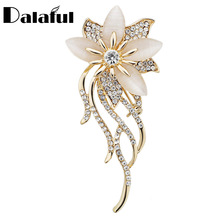Noble Opal Crystal Flower Brooch Pin Garment Accessories Jewelry For Wedding Bridal Fashionable Brooches Z020(China)