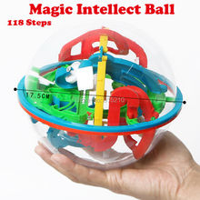 118 Lvevl 3D Magic Intellect Ball Funny perplexus magnetic balls IQ Balance toy Educational classic toys Marble Puzzle Game toy