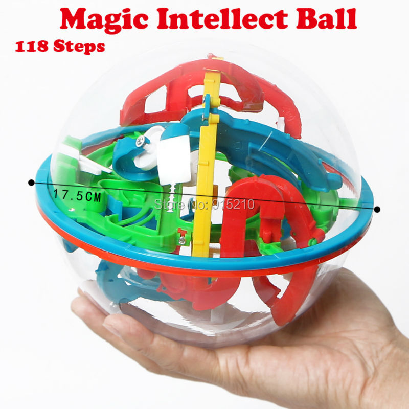 118 Lvevl 3D Magic Intellect Ball Funny perplexus magnetic balls IQ Balance toy Educational classic toys Marble Puzzle Game toy(China (Mainland))