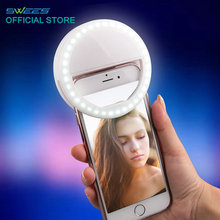 LED Selfie Ring Cover For iPhone 5C 5s 6s 7 Plus LG G5 Samsung S6 S7 edge Android Smart Mobile Phone Flash Light Case