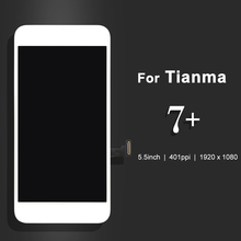5pcs For Tianma 7 Plus LCD Touch Screen Display Glass Digitizer Assembly Black/White with Camera Hloder DHL(China)
