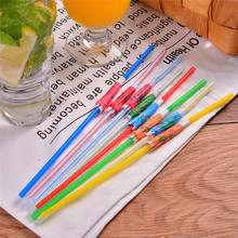 50pcs Party Fluorescent Umbrella Christmas Decoration Paper Drinking Straws Christmas Party Suppliers Degradable 5zSH912-50(China)
