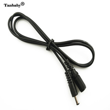 Tanbaby 5.5*2.1mm DC extension cable wire 1Meter long female to Male connector  5.5*2.1mm DC wire Black