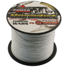 Best fishing line for sale 500M grey super pe fishing cord 8 strands strong leader line fishing tackle store fishing wires(China)
