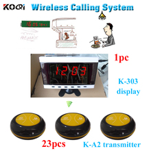 Electronic beeper pager system 1 monitor with 23 transmitters 2-key(call;cancel) CE Passed(China)