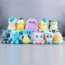 11Style Ditto Lapras Wobbuffet Cyndaquil  Snorlax Psyduck Lucario Mew Mudkip Cute Plush Pandent Doll Toys For Kids