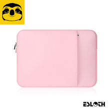 Pink Soft Laptop Sleeve Bags Protective Zipper Notebook Case Computer Cover for 11 12 13 14 15 inch For Macbook Air Pro Retina(China)