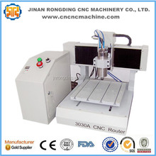 Best price wood mini cnc milling machine , hobby diy advertising cnc router 3030 for metal , acrylic , MDF(China)