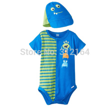 Bosudhsou YL-17 Jump Suit Baseball Cap/hat Baby rompers One-piece Costumes Kids Short Sleeve Spring Wear Children Clothing Set