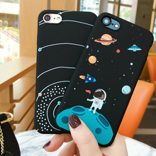 Airship Astronaut Stars Moon Case For iPhone 7 Case Lovely Fashion Starry Sky Phone Cases Cover For iphone7 6 6S Plus