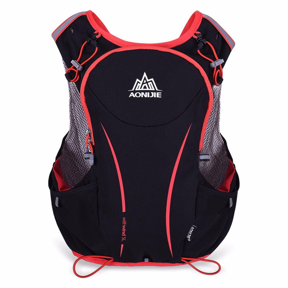 AONIJIE Men Women Lightweight Trail Running Backpack Outdoor Sports Hiking Racing Bag Optional Hydration Water Bag Bottles