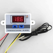 Red LED Digital Temperature Controller Thermostat Regulator Switch Control AC220V 10A Module for Incubator Aquarium Sensor Probe