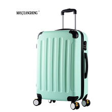 20inch Classic striped patch Trolley suitcase/rolling spinner wheels Pull Rod luggage/Women Girl traveller case boarding bag(China)