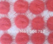 Free shipping!!!! mink fur ball embellishment sew trim for DIY craft hair accessory 30mm bright orange(China)
