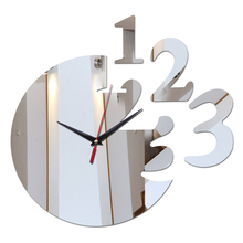 2017 time Limited Home Decoration wall clock Clocks Quartz Acrylic 3d Mirror stickers number modern Design