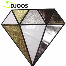 Diamond Embroidery Patches for Clothing Tops Jean Jacket T-Shirt Dress Motorcycle Iron-on Patches Fashion Decoration Accessories