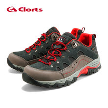 Outdoor Hiking Boots Clorts Suede Leather Climbing Shoes Men Waterproof Mountain Hiking Shoes HKL-815(China)