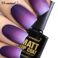 Vrenmol Matt Matte Top Coat Top It Off Nail Gel Polish Nail Art Vernis UV Gel  Lak Lacquer Semi Permanent Cleaning Varnish Glue