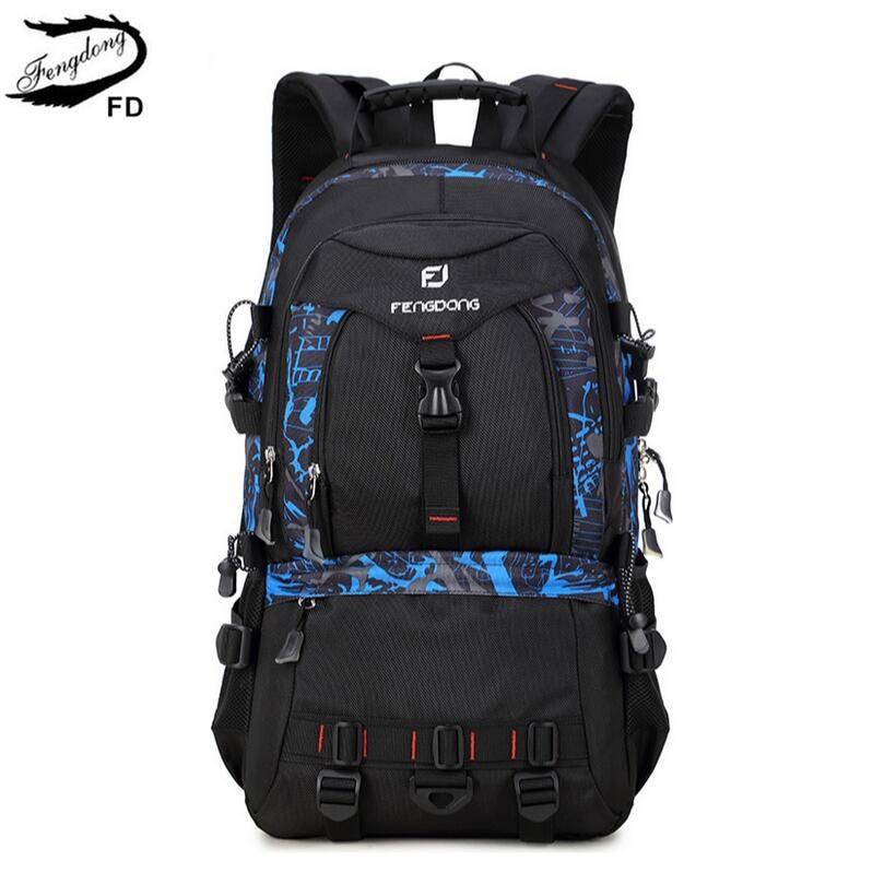FengDong large sizes men travel backpack 40l 35l 30l male big travel bag for laptop notebook college computer backpack boy bag<br>