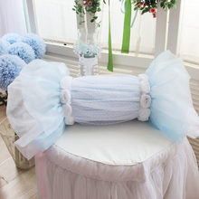 Fahion lace wedding decoration candy cushion square cushions bolster throw pillow rose bedroom textile bedding accessories sale(China)