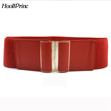 Fashion Brand Cowskin Belts For Women Elastic Cummerbund Patent Leather Woman Belt Leather Wide Women's Belts 4 Color(China)
