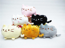 20cm Cartoon Soft Pusheen Cat Cushion Plush Toys Have Black Gray Orange White Pink Colors As Gift For Children Or Friends