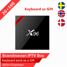 Buy Nordic Swedish IPTV X96 16GB Rom android tv box Arabic Scandinavian IPTV Spain Israel iptv IP TV subscription VOD smart tv box for $70.08 in AliExpress store