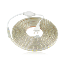 Waterproof 220V SMD 5050 5m 10m 15m 20m 25m led tape flexible led strip light 60 leds/M outdoor garden lighting with EU plug(China)